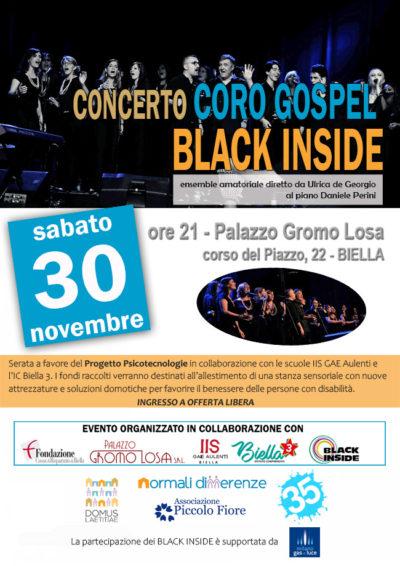 """Concerto del Coro Gospel """"Black Inside"""""""
