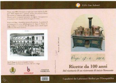"""Libro """"Oropa 17 – 4 – 1910. Ricette da 100 anni"""""""